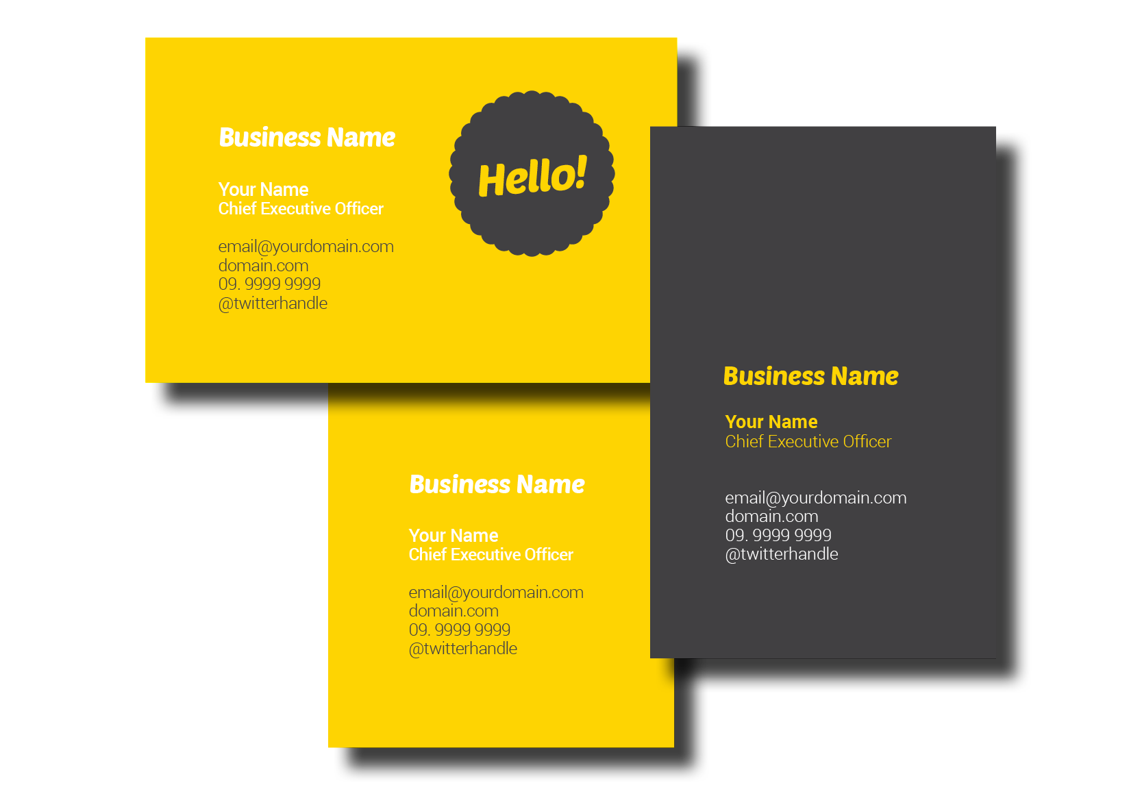 Business Cards, Dunedin Print, 297 Vogel Street, Dunedin